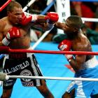 After a disputed decision in their first matchup -- Mayweather won, but fans felt otherwise -- the two met again nearly eight months later. This time Mayweather left little room for questioning as he battered Castillo, winning a unanimous decision.