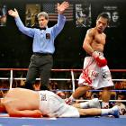 """With a ninth-round knockout of Diaz, Pacquiao became the only Filipino and Asian boxer to win five world titles in as many weight classes. He pummeled the then-WBC lightweight world champion, leaving Diaz to admit after the fight: """"It was all his speed. I could see the punches perfectly, but he was just too fast."""""""