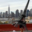 The Eiffel Tower gamely made its way across the Pulaski Bridge in Queens while the Empire State Building remained stuck in its starting blocks.