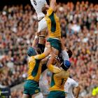 Bet you didn't know that rugby players often double as their own cheerleaders. Here the wooly boys on both sides form an impromptu pyramid during an Investec Challenge Series match in Twickenham, England, on Nov. 7.
