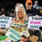 Now you know why Rex Ryan was cryin' in the locker room. This heartbreaker, known to one and all as Ms. Football, has apparently thrown her considerable support behind Rex's sputtering squad.