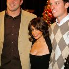 The bewitching Ms. Abdul was spotted with a pair of Giants at the 2009 Christmas Spectacular at Radio City Music Hall in New York City.