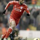 """The  Liverpol winger was fined 10,000 pounds by the English Football Association for taking out his frustration on referee Howard Webb following a 1-0 loss to Manchester United. He first posted a digitally altered picture of Webb wearing a Manchester United jersey then said, """"And they call him one of the best referees? That's a joke. SMH (shaking my head)."""""""