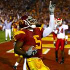 """Bush seemed to play his best when USC needed him most. A month after the """"Bush Push"""" helped the Trojans beat Notre Dame, USC trailed Fresno State by eight at halftime. Bush put on a show in the third quarter, scoring two touchdowns to help USC build its lead. On the second touchdown, a 50-yarder, Bush blew the minds of everyone in the Coliseum with a juke along the left sideline that broke at least two of Newton's laws. The Trojans won 50-42, and Bush finished with 513 all-purpose yards."""