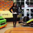 NASCAR's hot new pilot was introduced along with her wheels at a media clambake in Phoenix on Dec. 8.