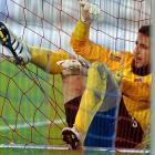 FC Basel's goalkeeper found himself trapped in a web of deception during a UEFA Europa League group E match against Fulham FC.