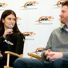 When Oprah hangs up her talk show, the fetching Ms. Patrick will be all warmed up and ready to drive right in. Here, she talks the finer points of frying piston rings with Junior at JR Motorsports headquarters in Mooresville, N.C.