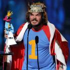 Sir Black broke out his best King Leer at Spike TV's 7th Annual Video Game Awards in L.A., where he was handed a handsome trophy for winning Best Voice honors.