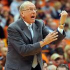 Syracuse's venerable head hoops coach made his feelings known during the first half of a tilt vs. St. Francis (the school, not the religious figure) at the Carrier Dome.