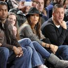 The Mrs. seems to be wondering what on Earth hubby Tony is doing while his Spurs take on the ever-pesky New York Knicks at Madison Square Garden on December 27.