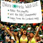 It's always beach weather in balmy Green Bay, Wisconsin, especially when the Packers are roasting the Seahawks at Lambeau Field.