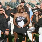 Barry Bonds may have a reputation for being surly with the media and fans, but he was the life of the American Idol party during the Giants' 2006 Spring Training, when he dressed in drag as Paula Abdul.