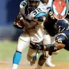 The late Carolina Panthers' running back was arrested in February 2000 after police found a rifle in the trunk of his car. Five months later, he was fatally shot in his Charlotte, N.C., home. His wife, Deidra (inset), pleaded guilty to killing Lane with his 12-gauge shotgun; she was sentenced to eight years in prison.