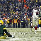 Nobody thought the Falcons had a shot against Green Bay in this matchup. Not only were the Packers perfect at home, but also Favre boasted a 35-0 career record at Lambeau when the temperate was below freezing. But Micahel Vick outplayed Favre, who finished with two interceptions and a lost fumble in the 27-7 defeat.