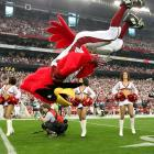 How wild was the Cards' 51-45 overtime playoff win over Green Bay? Even their mascot scored.