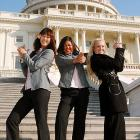 While celebrating their Solheim Cup win on Jan. 12, the lady golfers' cute little handgun gesture on the steps of the Capitol surely got them wrestled to the ground by zealous secret service agents seeking any excuse to wrestle them to the ground.