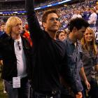 The famed thespian saluted the crowd in Indianapolis after leading the Colts to victory over the New York Jets in the AFC Championship Game.