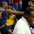In what has become known as the Malice at the Palace, the 2004 Pacers-Pistons brawl led to nine players being suspended for a total of 146 games and a loss of nearly $10 million in salaries. And it all centered on Artest, whose foul on Detroit's Ben Wallace escalated into a brawl between players and fans. Artest's hefty suspension (the remainder of the season -- 73 games, plus 13 playoff games) is the longest non-drug-related suspension in NBA history. He lost nearly $7 million in salary as a result.