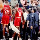 Houston's clutch shooter stormed the stands at Portland after, as he claimed, a fan taunted him about his wife's miscarriage. Maxwell punched the fan and, as a result, was suspended for 10 games and fined $20,000.<br><br>Send comments to siwriters@simail.com.