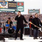 """The Dropkick Murphys, a Boston punk band, performed live in center field before the game, playing """"Shipping Up To Boston,"""" a song usually heard at Fenway when Red Sox closer Jonathan Papelbon enters a game."""
