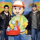 "The erstwhile star of ""Handy Manny"" and NASCAR's most popular pilot introduced Junior's new crew chief at Daytona International Speedway in noisy Daytona Beach, Fla., on Feb. 10."