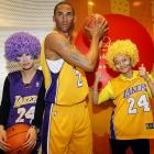 Based on the visual evidence, the injured Lakers star personally greeted the two lucky fans the team hastily signed to replace him until his ankle heels, er, heals. Their historic summit took place at Madame Tussaud's wax museum in Shanghai, of all places, on Feb. 9.