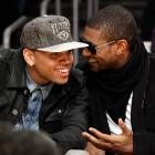 The R&B singer must be darned happy that Usher helped him find his seat in that renowned celebrity warehouse, the Staples Center in Los Angeles, where the Lakers were doing battle with the Celtics on Feb. 18.
