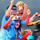 Three guesses about which country they're rooting for in the women's luge competition. . .