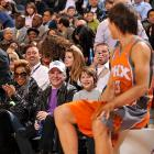 The popular music icons are clearly amused by Steve Nash, who sat there spinning yarns and tellin' tall tales at the NBA's Taco Bell Skills Challenge in Dallas on Feb. 13. We hear Nash won the burrito-folding event.