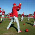 It's almost spring and time for training as hurlers all over the land get busy. Here we have the Phillies' staff, which clearly plans to add a fifth pitch -- the bowling ball -- to an already formidable repertoire.