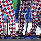 Why should John Daly have all the plaid patterned fun? This year's Norwegian curling team decided to add a little razzle and dazzle to their trousers. Fashion fail or success? You decide.