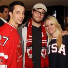 If given the option between a fellow countryman and a hot blonde from the United States, it's pretty clear which side Seth Rogen is landing on.