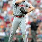In his first start of the 2008 season, Bailey struggled to fend off the Philadelphia Phillies at Citizens Bank Park in a 5-2 loss.