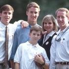 Archie, Olivia and their three sons.