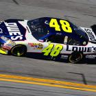 Reigning Sprint Cup champion Jimmie Johnson completed only 58 laps on Sunday, stalling out with rear-axle problems.