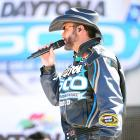 Country music superstar Tim McGraw entertained the Daytona speedway crowd just moments before the official 'starting of the engines.'