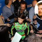 """This might be the first time we don't have to weave through cameras and media reporters when walking to our car, because they'll be in Danica's garage. She handles it well, and we'll try to make sure it's not a distraction."""
