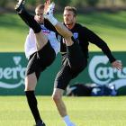 With the World Cup approaching and England's fortunes in question, the two footballers appear to be making fallback plans by auditioning for Radio City's famed Rockettes.