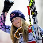 America's Sweetheart of the Snowy Slopes looked a little giddy after winning the women's Alpine World Cup event in fabulous Garmisch Partkenkirchen, Germany on March 10, and who can blame her?