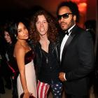 Looks like we've got yet another supergroup on our hands. This power trio was spotted at Vanity Fair's Oscar shindig the other night, no doubt hatching plans to join the hallowed ranks of Them Crooked Vultures, Velvet Revolver, and Emerson, Lake & Palmer.