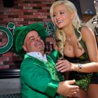 One of the best things about being O'Shea's Lucky Leprechaun is that life is always looking up with your lady friend, especially after you've just defeated her in a spirited game of beer pong at O'Shea's Casino in Las Vegas on St. Patrick's Day.