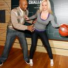 The NBA analyst and the pillow-lipped TV personality got frisky at the Zero Inhibitions (indeed) Brackets Challenge at C and C Studio on March 16 in New York City.