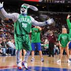 St. Patrick's Day is known for the over-consumption of alcoholic beverages, which can cause visions like this one, as seen at the Wachovia Center in the City of Brotherly Love on the day in question.