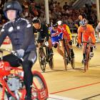 The field gamely chased Great Britain's plucky Chris Hoy in Copenhagen on March 25. It's worth nothing that Mr. Hoy nor his rather innovative bike were officially entered in the competition, a development that was of some interest to security at Ballerup Super Arena.