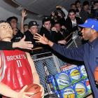 The swingman pressed the flesh with the agent for his struggling team's newest member: a life-sized Yao Ming mannequin reportedly acquired by the Knicks at a garage sale for the rights to Frederic Weis. This potential turning point in New York City hoops history occurred at the NBA Store in Manhattan on March 24.