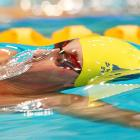 Bradley Lewis of NSW competes in the 200-meter backstroke during the 2010 Australian Swimming Championships on March 18 in Sydney. Lewis finished fourth in the event.