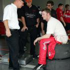 Pictured here with then-crew chief Steve Hmiel, Junior would have a successful run under Hmiel before going back to Tony Eury Jr. later in the 2005 season.
