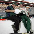 Earnhardt, Jr. is pictured here with Tony Eury, Jr. before the 2008 Sharpie 500 at Bristol Motor Speedway.