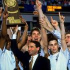 In a tournament best remembered for Duke's improbable Regional Final win over Kentucky thanks to Christian Laettner's last-second turn-around jumper, Duke reached the Final Four as the lone No. 1 seed still alive. Coach K's team cruised to victories over Indiana and Michigan to win their second straight national title. Bobby Hurley was named the tournament's Most Outstanding Player, while Laettner led the tournament in scoring.