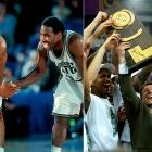 """The self-proclaimed """"Flint-stones"""" of Michigan State roared into the 2000 Final Four having won three of their first four tournament games by double digits. The Spartans clashed with Big Ten rival Wisconsin, who surprised the nation by making the semifinals as an 8-seed. But MSU guards Mateen Cleaves and Morris Peterson proved to be too much for the Badgers, and the Spartans marched on to face Florida in the title game. Coach Tom Izzo's team held the Gators down, despite 27 from Florida's Udonis Haslem, and wrapped up a 89-76 championship win."""
